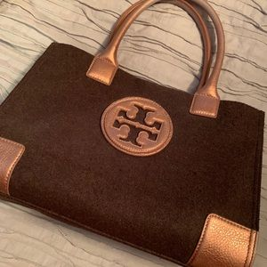 Tory Burch Ella Brown Bronze Tote SUPER CUTE!
